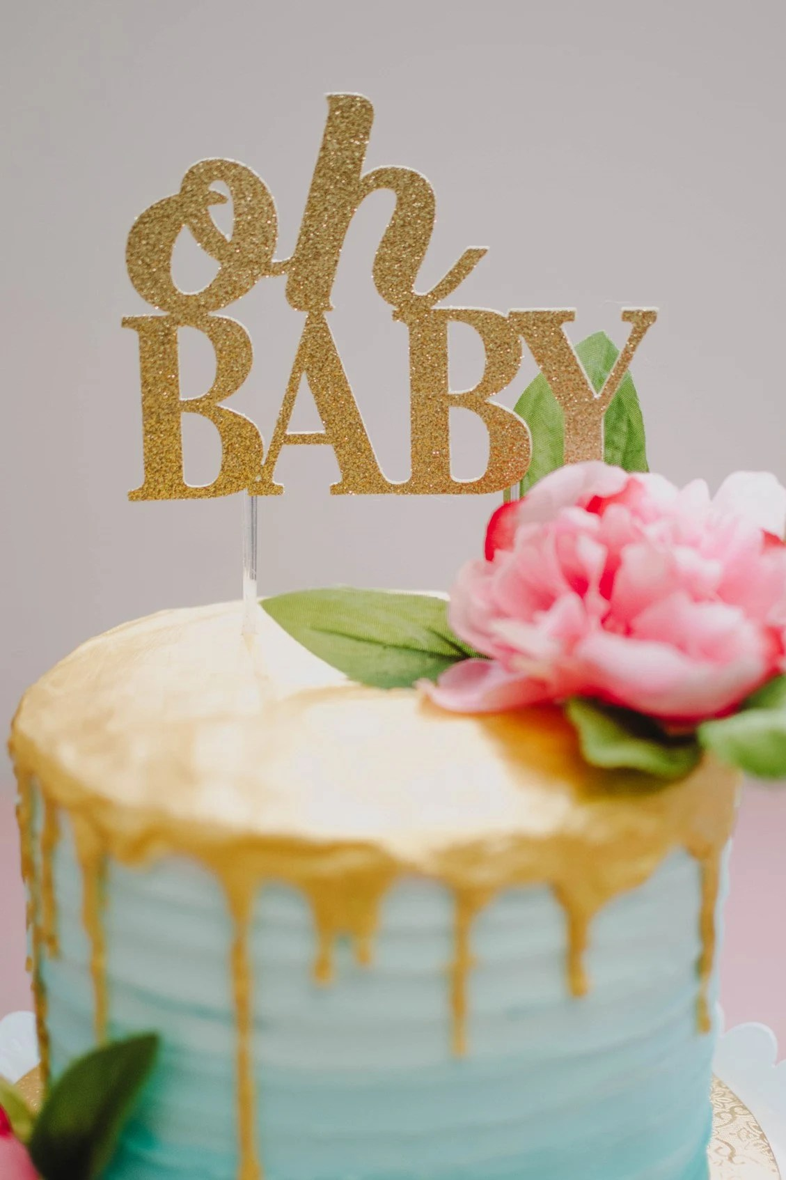 Oh Baby Cake Topper Baby Shower Decorations Modern Baby