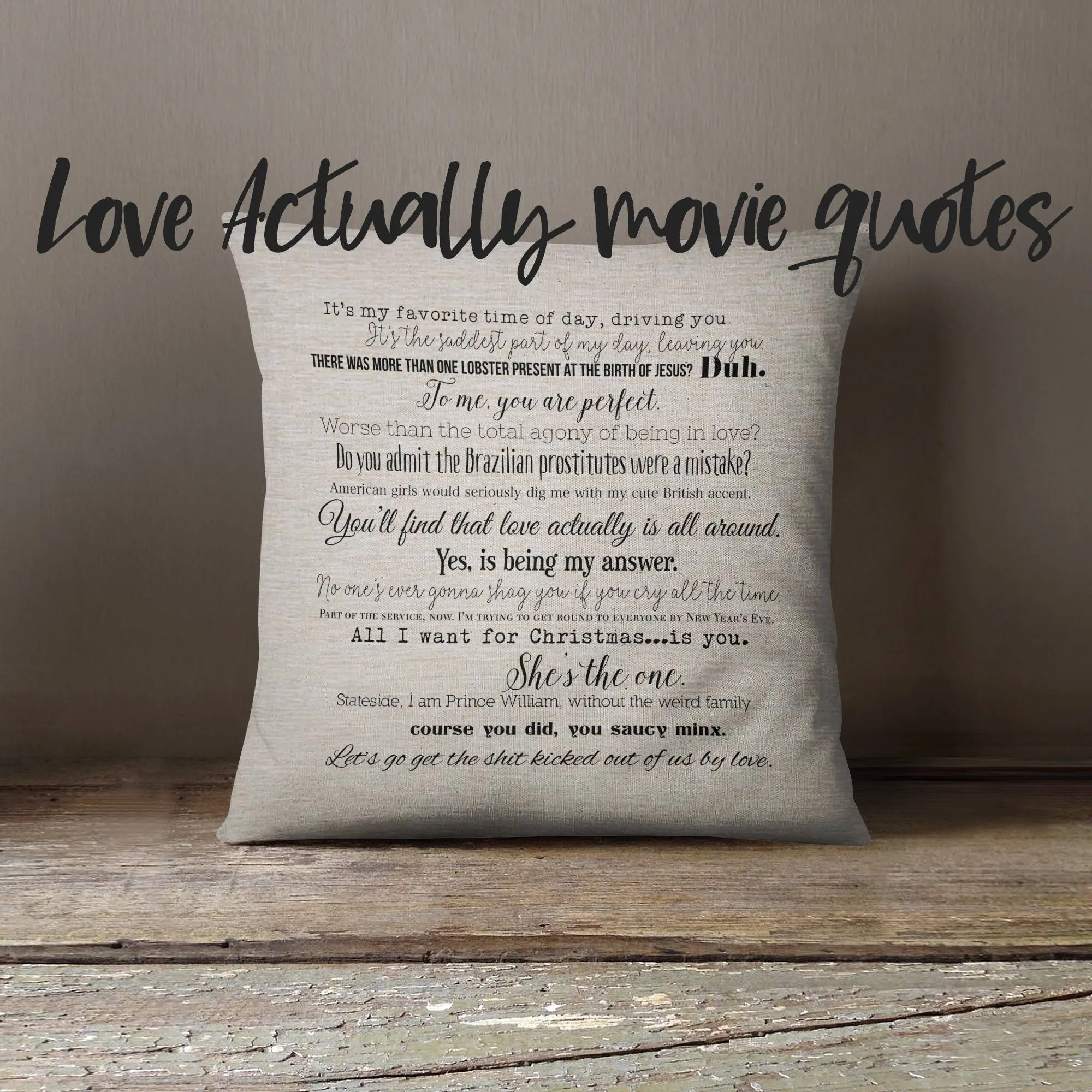 love quote pillow etsy