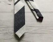 Navy Stripe Linen Blend S...