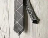 Gray Grid Skinny Tie...