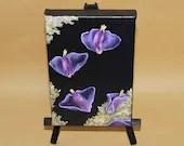 "4x6"" Original Mini Oil Painting - Pink & Purple Sea Slugs Ocean Butterflies Oceanlife Seacreature - Small Canvas Wall Art"