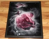 "16x20"" Original Oil Painting - Pink Rose Orion Nebula Constellation Stars Starry - Outer Space Deep Space Galaxy Astronomy Wall Art"