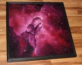 "30x30"" Original Oil Painting - Pillars of Creation Eagle Nebula Galaxy Outer Space Deep Space Astronomy Stars Starry - Giant Large Wall Art"