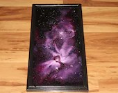 "10x20"" Original Oil Painting - Keyhole Carina Nebula Galaxy Outer Space Deep Space Astronomy Stars Starry Wall Art"