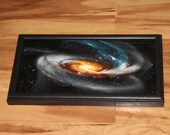 "8x16"" Original Oil Painting - Tadpole Galaxy Nebula Outer Space Deep Space Astronomy Stars Starry Wall Art"