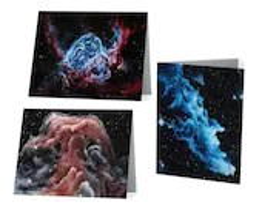Nebula Art Notecard Blank...