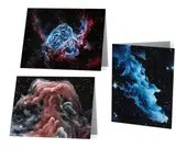 Nebula Art Notecard Blank Card Set or Single Card Stationery
