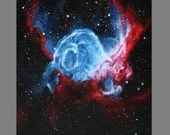 "Art PRINT - Thor's Helmet Nebula - Outer Space Galaxy Astronomy Wall Art - Choose Size 8x8"", 10x10"" 12x12"" PRINTS"