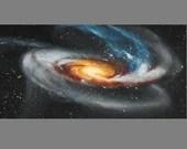 "Art PRINT - Tadpole Galaxy - Outer Space Nebula Astronomy Wall Art - Choose Size 5x10"", 6x12"" 8x16"" PRINTS"