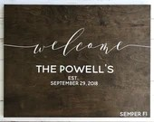 Welcome Sign Wooden Wedding Decor