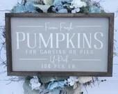 Farm Fresh Pumpkins Sign