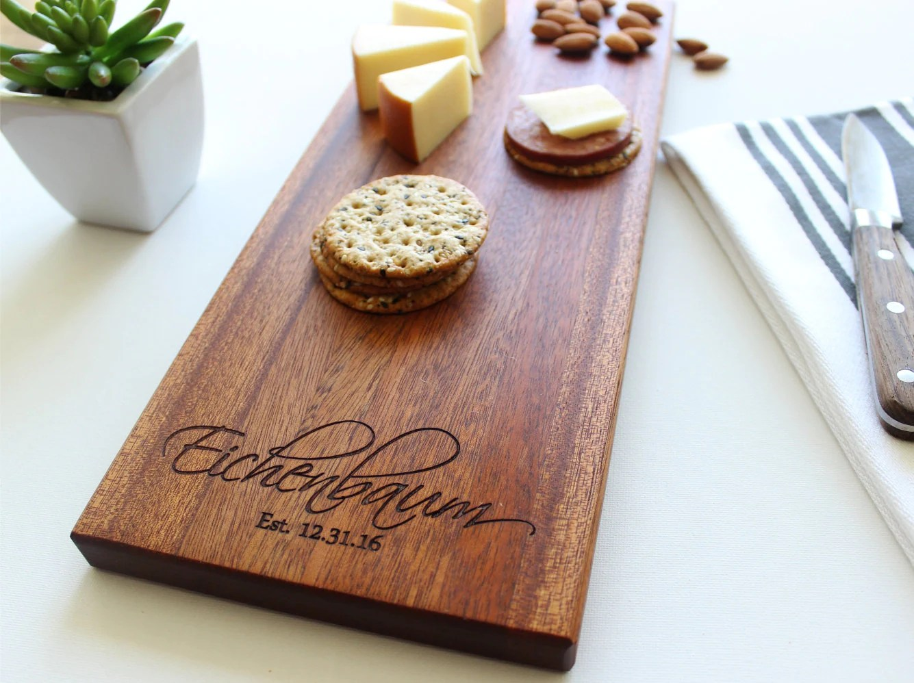 Cheese Board Personalized Cutting Board Christmas Gift Gift image 2