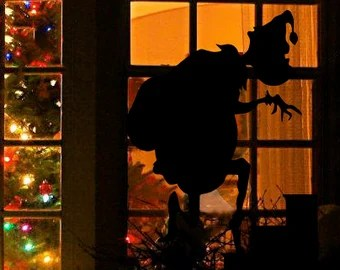 The Grinch How Stole Christmas Window Silhouette Decal Holiday Design