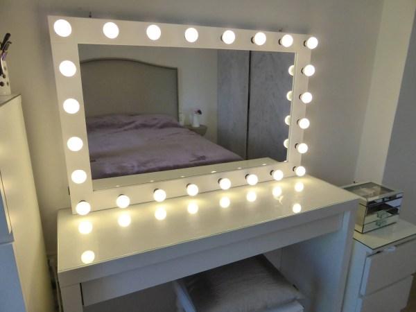 XL Hollywood vanity mirror 43x27'' makeup mirror | Etsy