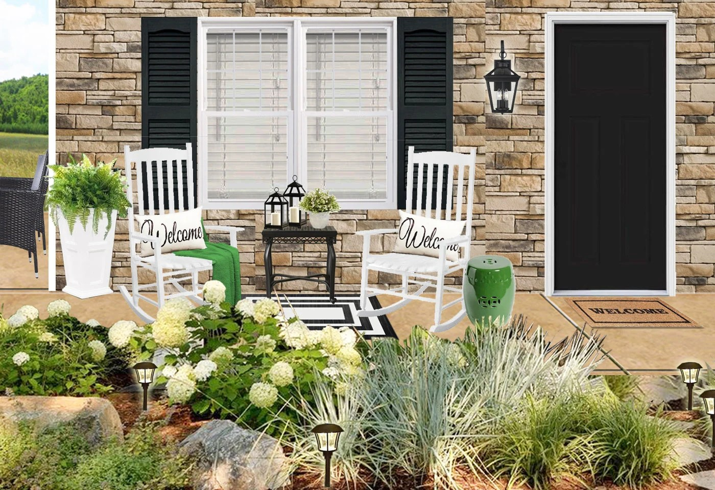 3d rendering front patio styling front porch dekor front porch interior design hamptons porch style southern porch