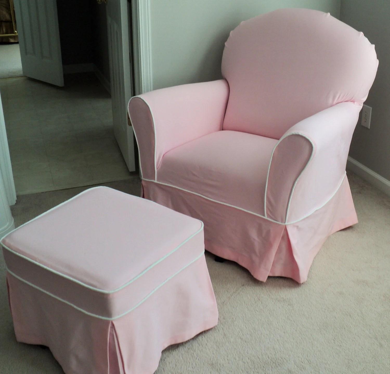 coutume pepiniere planeur chaise et pouf housse ensemble