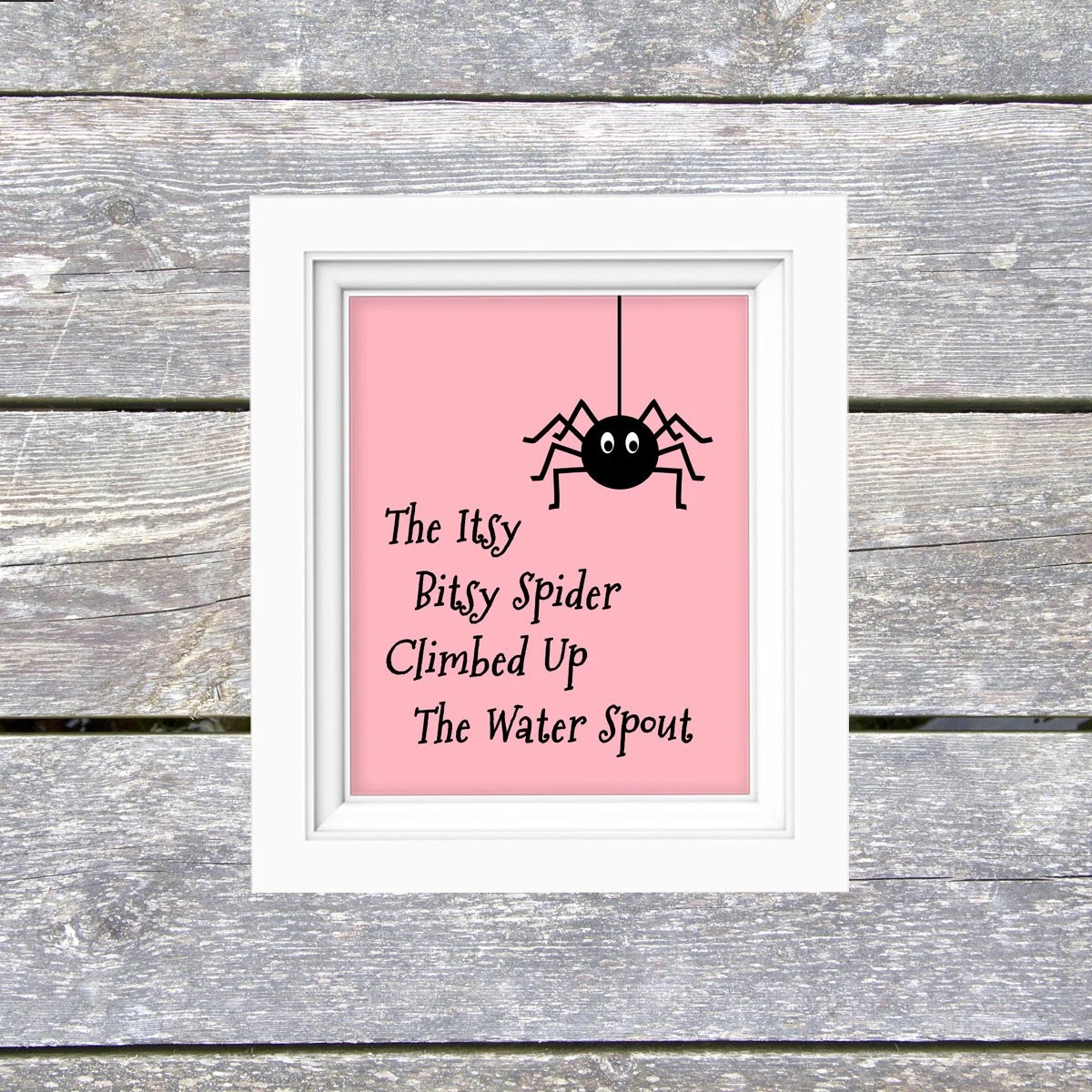 Pink Itsy Bitsy Spider Diy Print Print At Home Printable