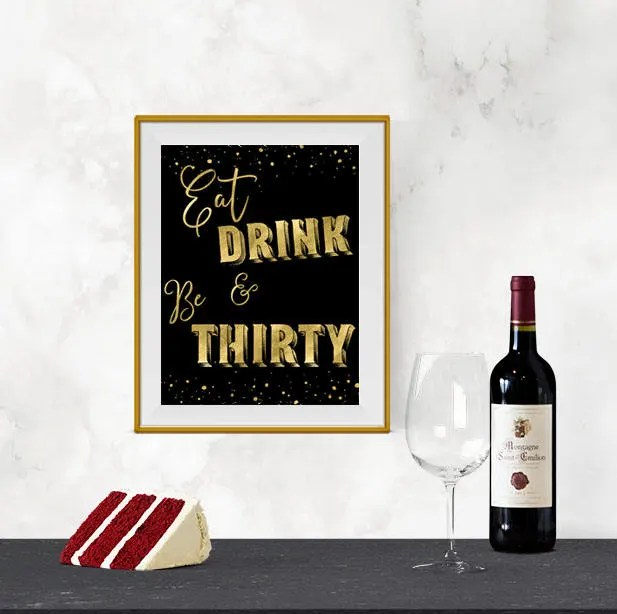 Printable Eat Drink and B...