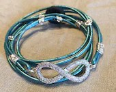 Teal Infinity Leather Wra...