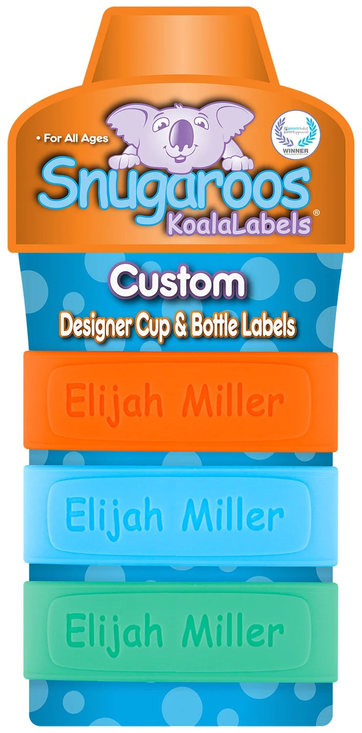 PACK of 3 Personalized Sippy Cup Labels & Baby Bottle Labels image 7