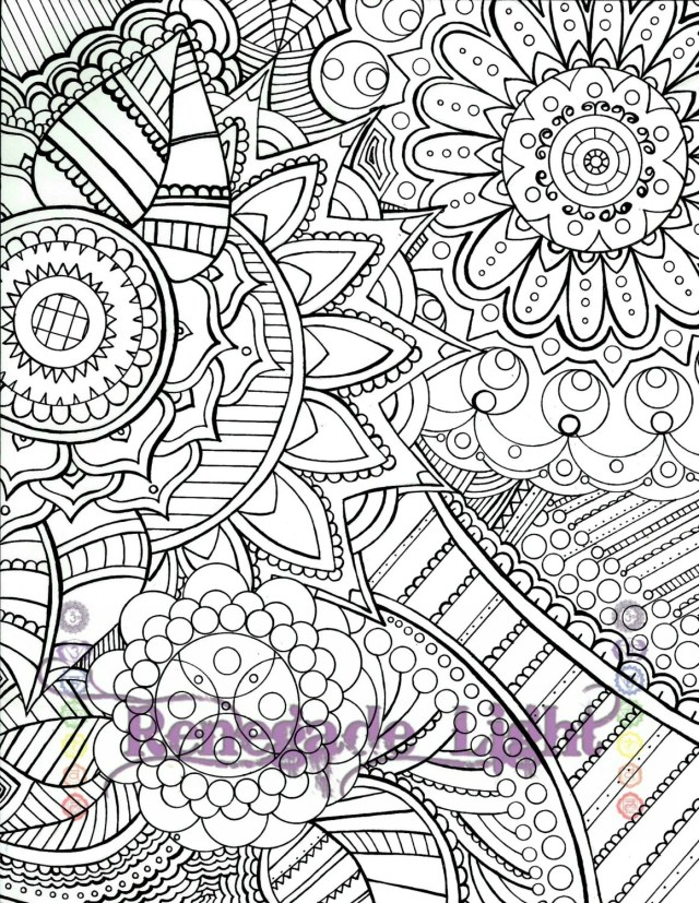 Zantagle meditation coloring page, adult coloring page, downloadable hippie  bohemian coloring page,