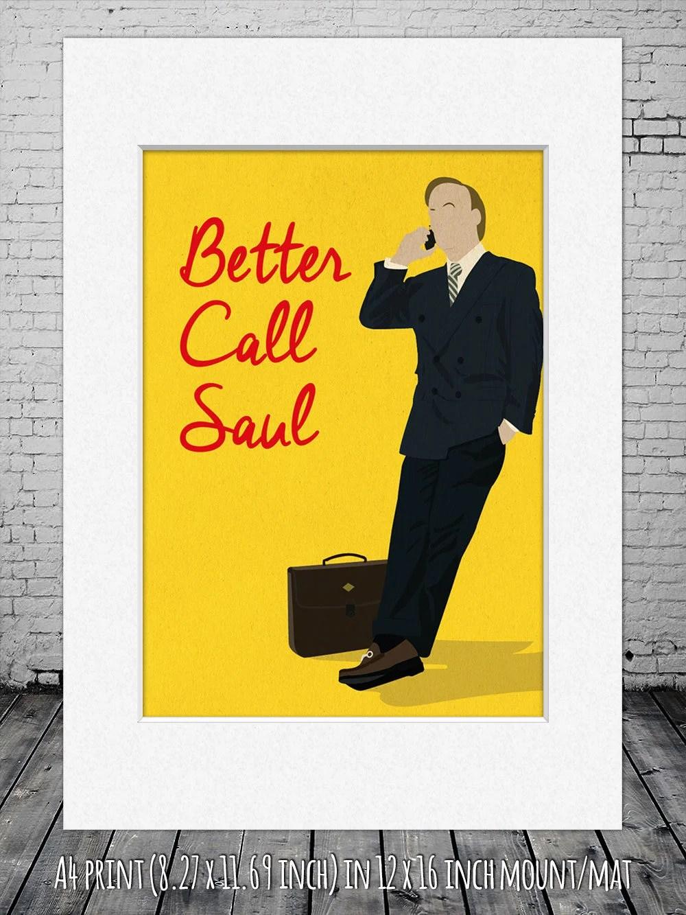 better call saul saul goodman minimalist poster better call saul digital art poster framed print matted print mounted print