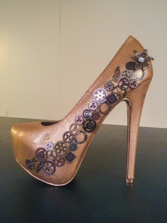 Steampunk heels created by Mile High Heel.
