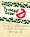 Ghostbuster Birthday Label For Silly String You Print Etsy