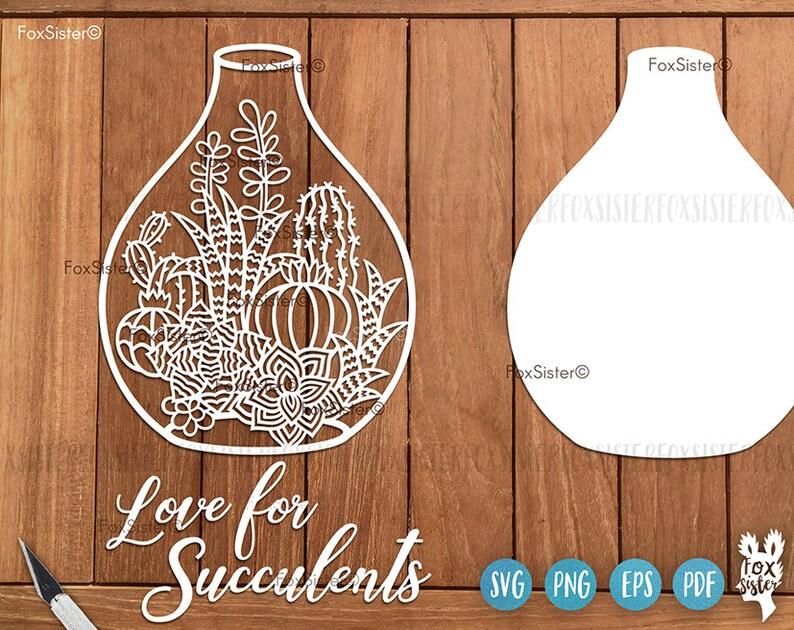 Download Love Succulents Svg Cut File Cactus Svg Cactus Clipart | Etsy
