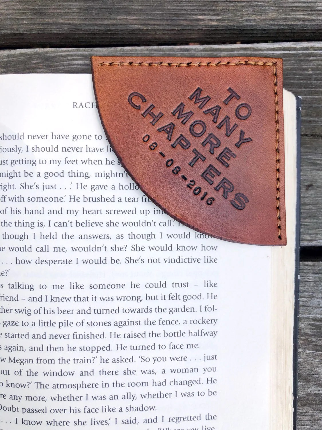 Personalized Tan Leather Corner Bookmark – Custom Message Lettering – Leather Anniversary – For Him or Her – Mother's Day – Leather Gift                                                                    AniseLeatherInc         From shop AniseLeatherInc                               5 out of 5 stars                                                                                                                                                                                                                                                          (521)                 521 reviews                                                      CA$55.81                                                                   FREE delivery