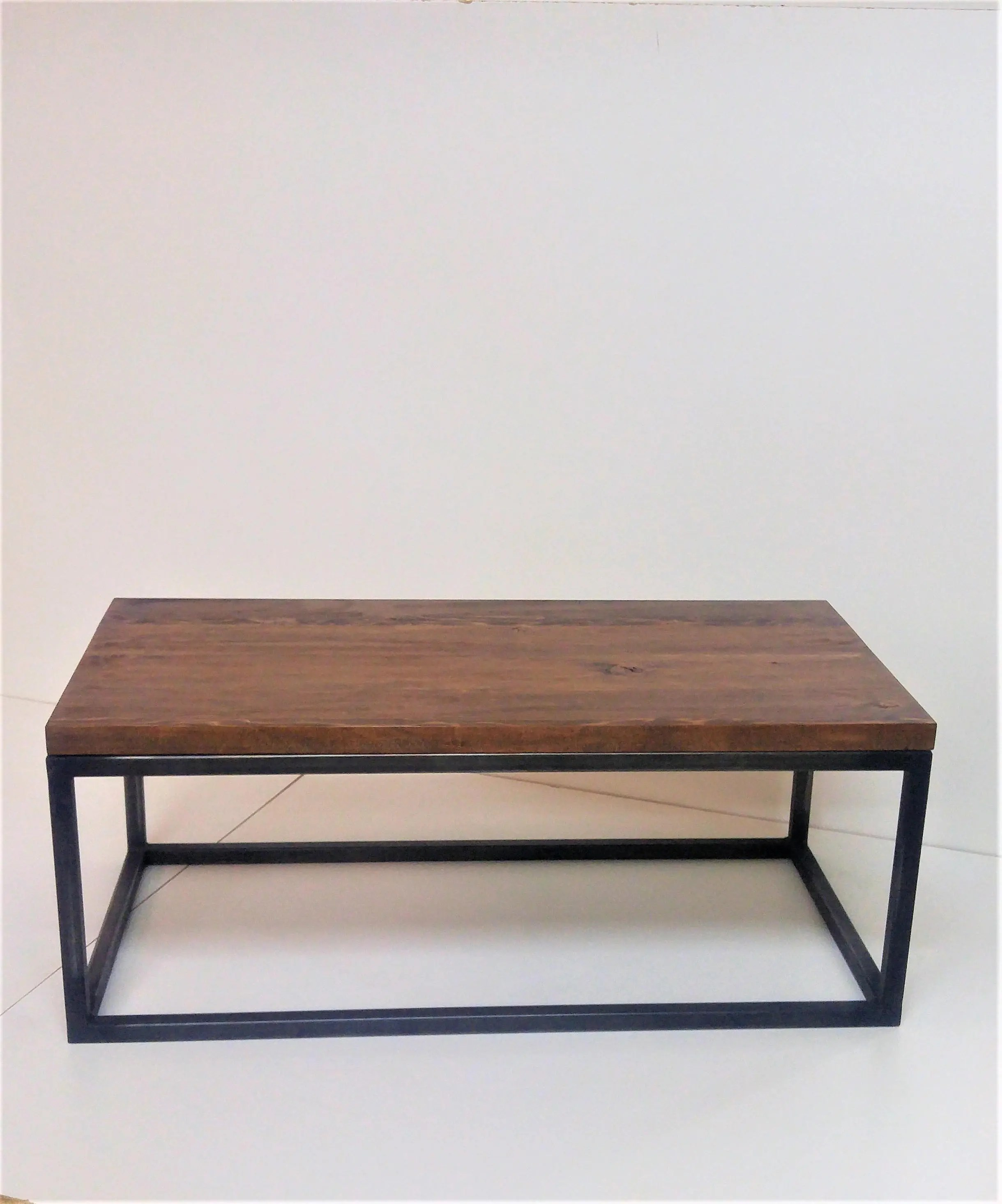 wood and steel table etsy