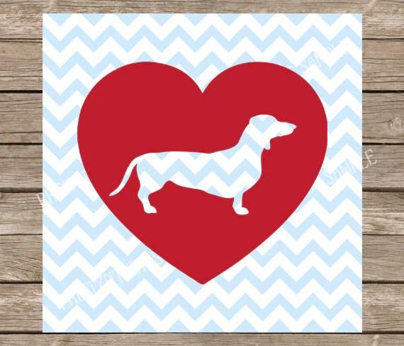 Download Dachshund Dachshund svg Heart Dogs Dog svg Heart Love | Etsy