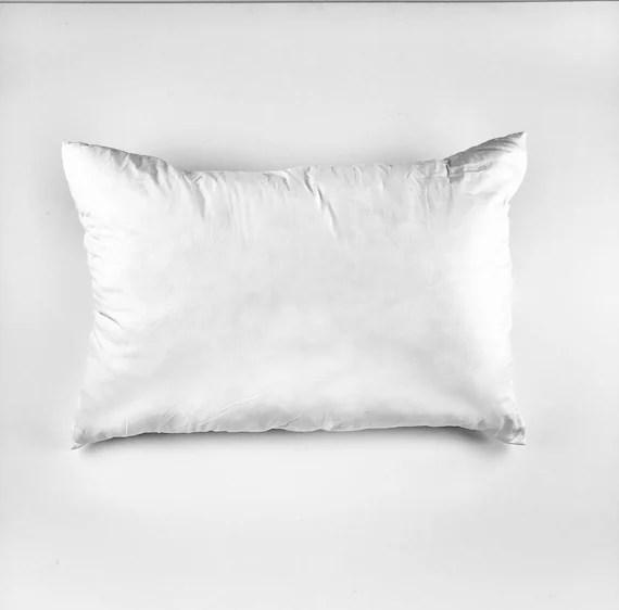 angel hair fiber pillow insert 20 x30 poly cotton casing faux down insert hypoallergenic pillow synthetic fiber pillow over
