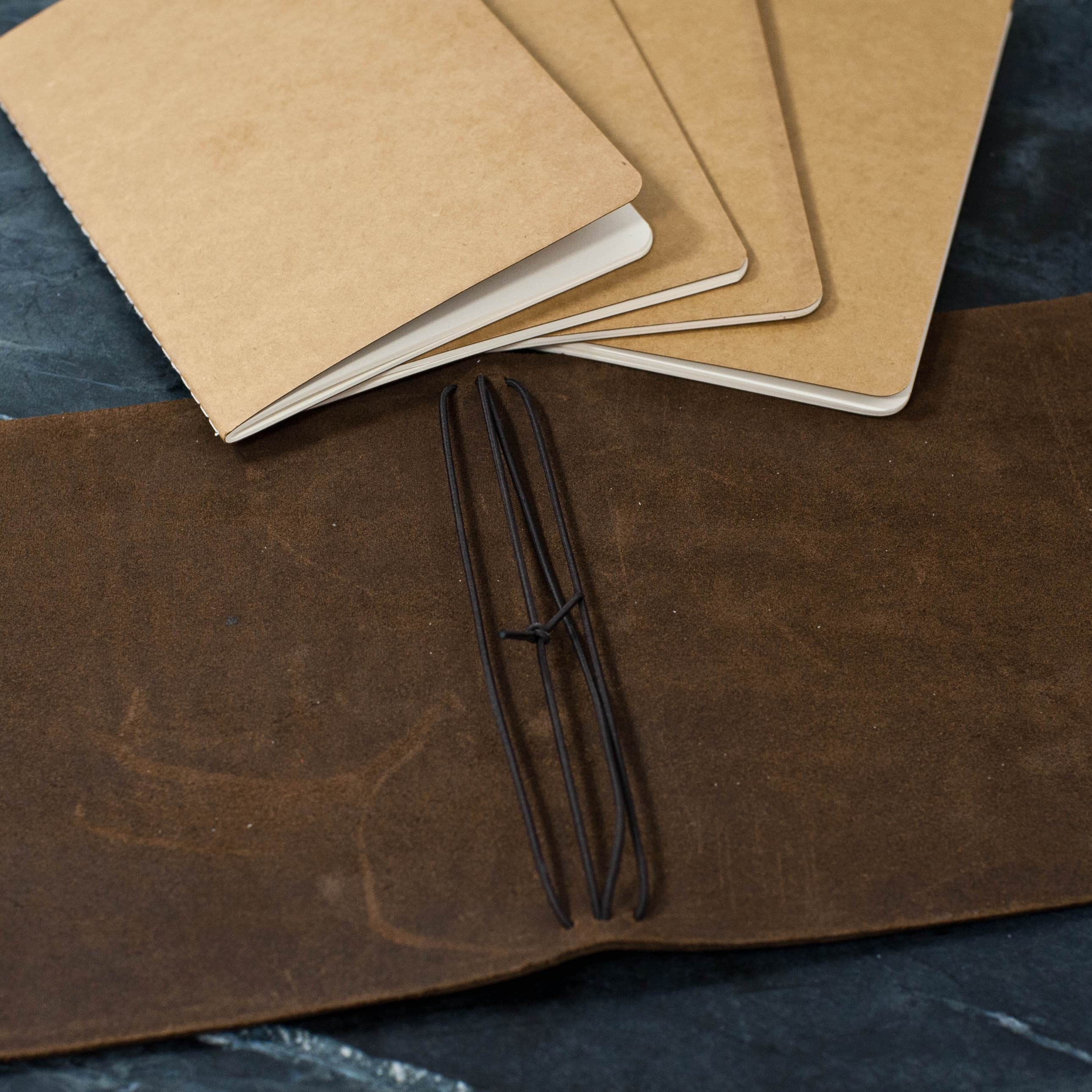 REFILLABLE Personalized Premium Leather Journal Notebook or image 4