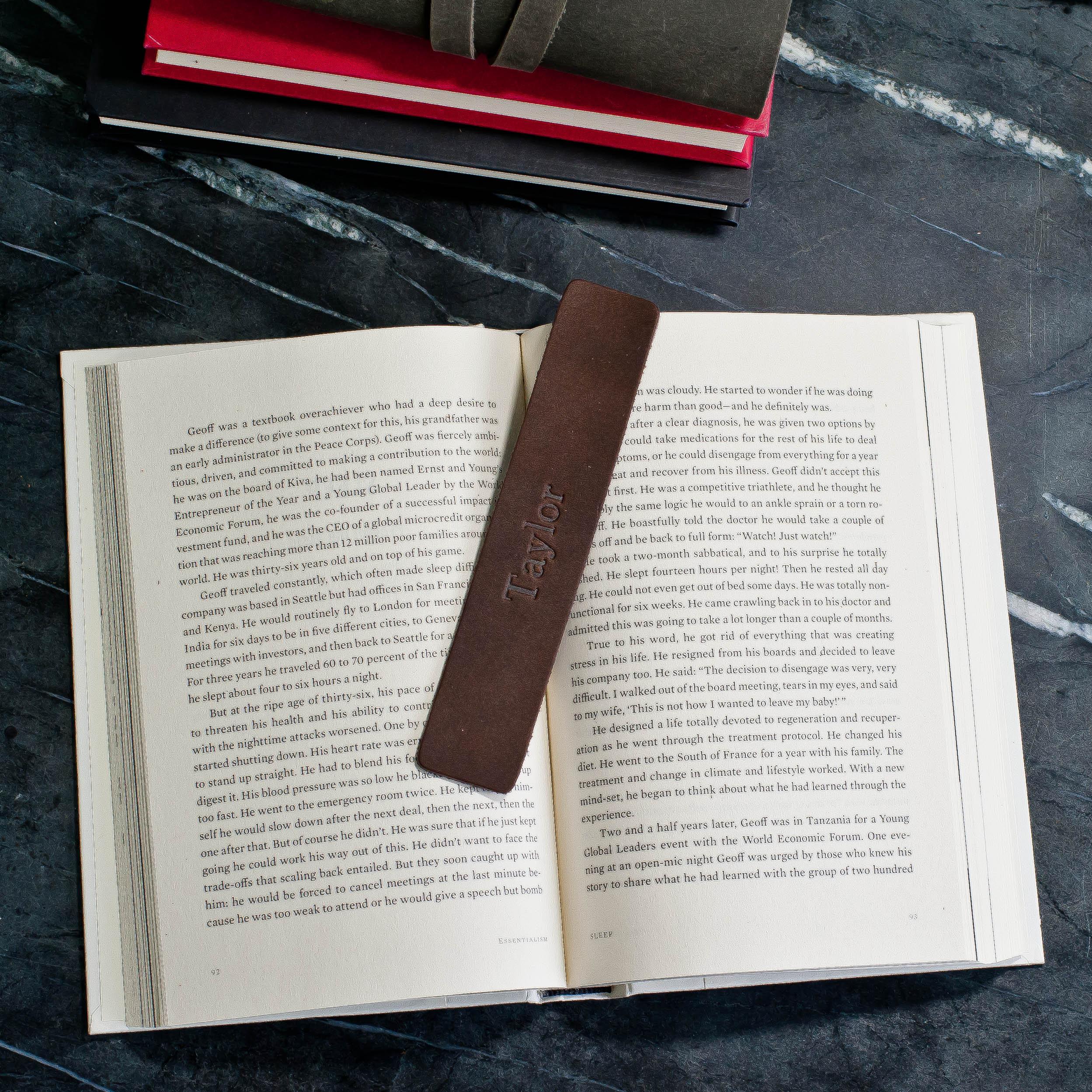 Personalized Premium Leather Bookmark image 1