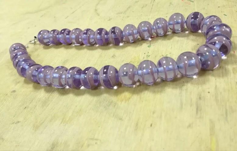 Necklace violet and laven...