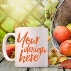 Autumn Styled Stock Mug Mock Up Autumn Mockup Blank White Etsy
