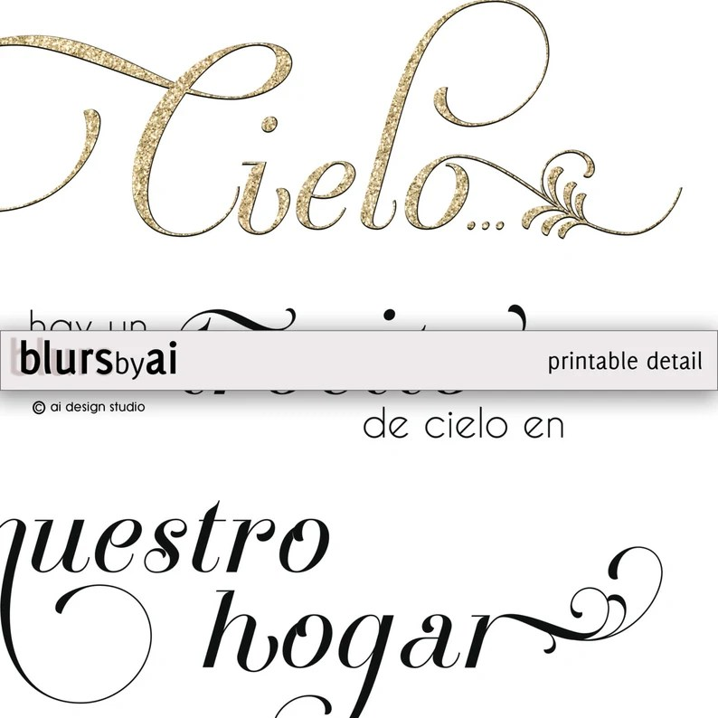 Download Spanish quote print: Because someone we love is in   Etsy