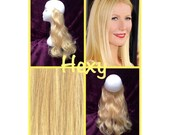 """22"""" HALO FLIP in HEXY Light golden blonde #22 human remy secret invisible miracle wire hair extensions custom made damage free circle crown"""