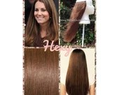 """HALO Hair Extensions 18"""" #6 Medium-Light Chestnut Brown Flip In Secret Miracle Wire Crown Human Hair Extensions or One Piece Clip In Weave"""