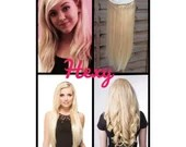 """HALO Hair Extensions 14"""" #60 Lightest (Bleach not Platinum) Blonde Flip In Secret Miracle Wire Human Remy Hair Extensions/Clip In Weave Hexy"""