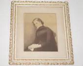Verlassen Otto Theodore Gustav Lingner Large Vintage Print Ornate Frame