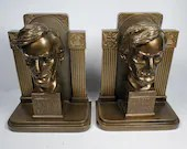Rare Abraham Lincoln Kronheim Oldenbusch KO Bronze Bookends