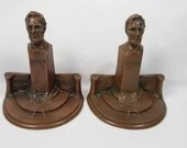 Rare Bronze President Abraham Lincoln Bookends Weidlich Bros Mfg Co WB