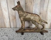 W.J. Loth Stove Virginia Metalcrafters Cast Iron German Shepherd Doorstop