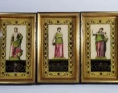 3 Framed Sungott Art Studios Classical Roman Greek Reverse Glass