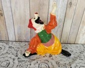 Vintage 1974 Circus Clown Universal Statuary Corp Chalkware Plaster