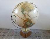 "Replogle World Classic Series 12"" Diameter Globe with Dual Axis & Wood Base"