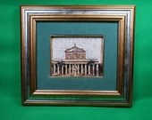 Rome Papal Basilica of St. Paul Framed Mosaic Plaque Gold