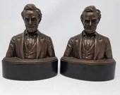 Abraham Lincoln 1920's Steven Rebeck Bust Bookends Mazzolini Artcraft
